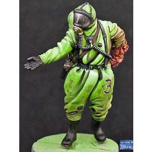 「怖がらないで!」 パート1 防護服を着た感染した科学者