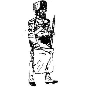 「フランス軍 イタリア人&ナポリ人部隊」より 擲弾兵 工兵軍曹 1888年 Pioneer Sergeant of Grenadiers, 1st Italian Line Infantry 54mm[MA0078]|miniature-park