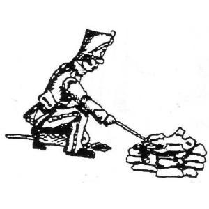 「フランス軍 戦列猟騎兵(シャスール)」より 第26猟兵連隊 料理をする兵士 1809-1812年 French Trooper, 26th Chausseurs cooking meal 54mm[MA5074]|miniature-park