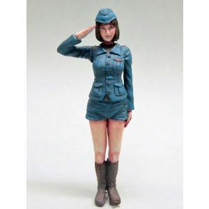 敬礼ガール SALUTE GIRL  1/35【セール対象外】[MAKOTO-PC04A]|miniature-park