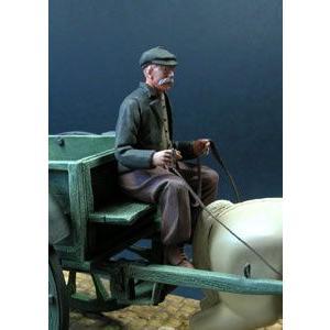 荷馬車の御者  Civilian driving a cart  1/35 miniature-park