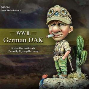 *ドイツ軍 アフリカ軍団 兵士(ベース付き) German DAK 54mmSDスケール(全高:65mm)|miniature-park