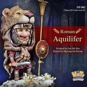 古代ローマ軍団 鷲の旗手(ベース付き) Roman Aquilifer 54mmSDスケール(全高:70mm)|miniature-park