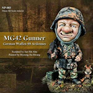 *ドイツ軍 SS MG42機関銃手 アルデンヌ MG-42 Gunner Ardennes 54mmSDスケール(全高:65mm)|miniature-park