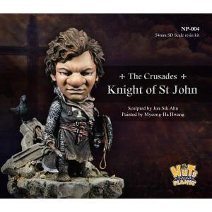 十字軍 聖ヨハネ騎士団の騎士(ヘッド2種入) The Crusades, Knight of St John 54mmSDスケール(全高:70mm)|miniature-park