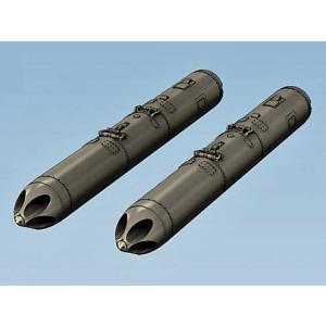 現用ロシア軍 戦闘機/攻撃機用 B-13Lロケットポッド(2個入)Soviet 5-tube launchers B-13L, 2 pcs, decal 1/32[NS32029]|miniature-park
