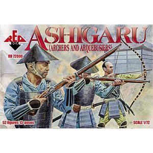 戦国時代の足軽(鉄砲隊と弓兵)(13ポーズ52体入)  Ashigaru (Archers and Arquebusiers) 1/72[ORR7206]|miniature-park