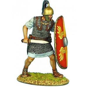 ジュリアス・シーザー時代の古代ローマ軍団 グラディウスを持つ軍団兵 Caesarian Roman Legionary with Gladius 60mm|miniature-park