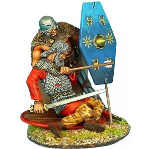 古代ガリア 負傷した戦士のビネット(2体入) Gallic Warrior Wounded Vignette 60mm|miniature-park