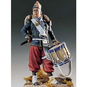 フランス軍 鼓手 1860年 French Drummer 1860 54mm[PEG54-083]【返品・返品不可】|miniature-park