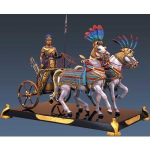 古代エジプト ラメセス2世のチャリオット(戦車) Rameses II War Chariot 90mm|miniature-park