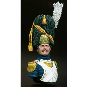 フランス軍 近衛擲弾兵 将校(大隊指揮官) Imperial Guard Grenadier Officer (Major)  1/10バスト|miniature-park