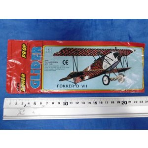 WWI パワープロップグライダー No.1 フォッカーD.VII戦闘機 WWI POWER PROP GLIDER No.1 FOKKER D VII|miniature-park