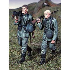 ドイツ国防軍 歩兵セット #1(2体入)  Wehrmacht Infantry Set #1 (Two full figures.)   1/48|miniature-park