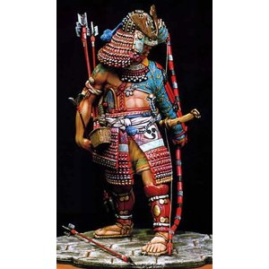 半身の鎧の武士 15世紀  Half armoured samurai - Sec. XV  90mm  [WM9003]|miniature-park