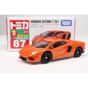 トミカ赤箱 87 ランボルギーニアヴェンタドールLP700-4 ※2012年新車シール・TAKARA...