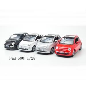 Kinsmart/キンスマート    フィアット500/FIAT500  レッド・ホワイト・ブラック...