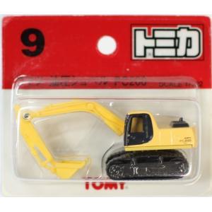 トミカ 9 小松油圧ショベル PC200 黄色 SCALE 1/122 ブリスター 赤TOMYロゴ2400010021312|minicars