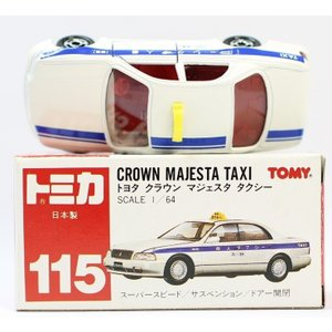 トミカ絶版赤箱 日本製115 トヨタ クラウン マジェスタ タクシー 2400010018947|minicars