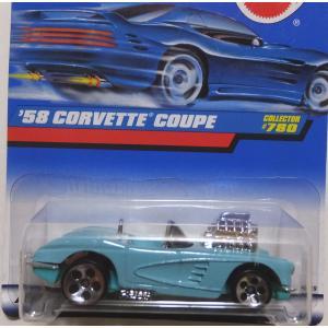 ホットウィール ミニカー 58 CORVETTE COUPE