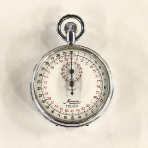 【現品】 Rare Swiss Vintage Split Stopwatch MINERVA MAJEX minimaruyama
