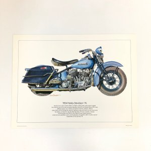 【現品】 1954 Harley Davidson '74 ポスター|minimaruyama