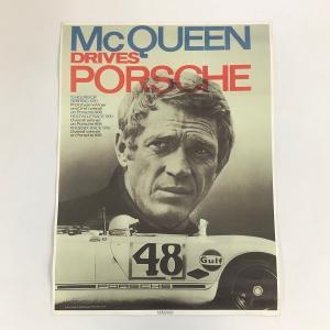 【現品】 McQUEEN DRIVES PORSCHE ポスター|minimaruyama