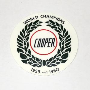 ジョンクーパーワールドチャンピオン・ステッカーグリーン|minimaruyama