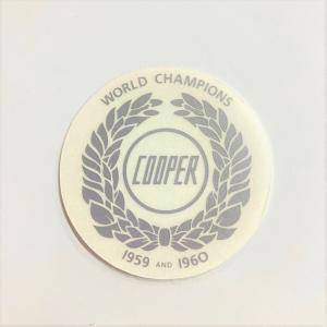 ジョンクーパーワールドチャンピオン・ステッカーシルバー|minimaruyama