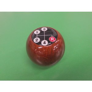 丸型ウッドシフトノブ・ビックマーク(シフトパターン)|minimaruyama