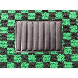 グリーン×ブラック フロアマット 左右兼用|minimaruyama|02