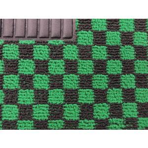 グリーン×ブラック フロアマット 左右兼用|minimaruyama|03