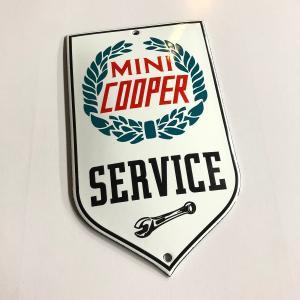 【現品】 MINI COOPER SERVICE エンブレム|minimaruyama