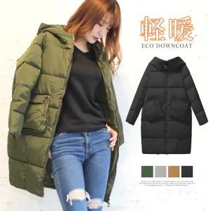 ダウンコート レディース ロングコート フード付きコート 軽い 暖かい コート|miniministore
