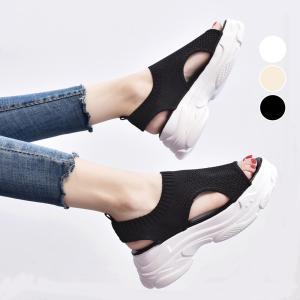 サンダル レディース 厚底 メッシュ スポーツサンダル 通気性 韓国風 カジュアル 歩きやすい