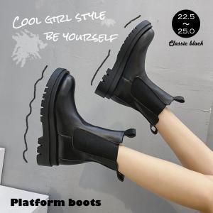 ブーツ レディース 靴 シューズ ショートブーツ 厚底 黒 ジップアップブーツ