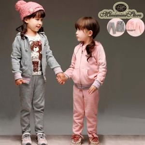 【在庫限り・売り尽くしセール】子供服人気ランキング女の子パーカー 上下セット|miniministore