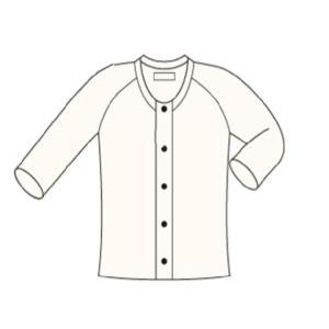 HV-201ひば加工紳士前開き七分袖(ラグラン袖) HV-201(Mサイズ) <神戸生絲>|miniroku