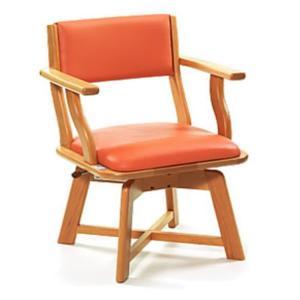 食卓いすミールターンML21(オレンジ)座面高さ42cm <ピジョン>|miniroku