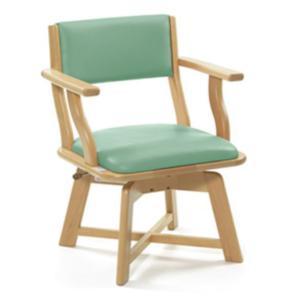 食卓いすミールターンML21(グリーン)座面高さ42cm <ピジョン>|miniroku