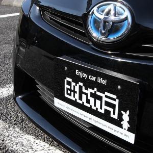 ナンバープレート隠し(F) ミント ブラック(フロント)|minkara|03