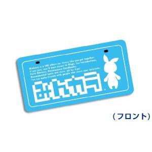ナンバープレート隠し(C) ミント ブルー(フロント)|minkara