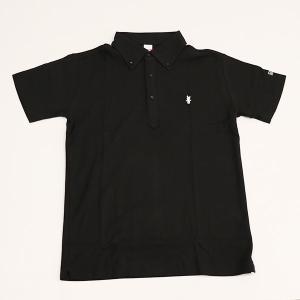 ミント刺繍入りポロシャツ ブラック|minkara