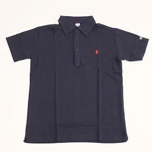 ミント刺繍入りポロシャツ ネイビー|minkara