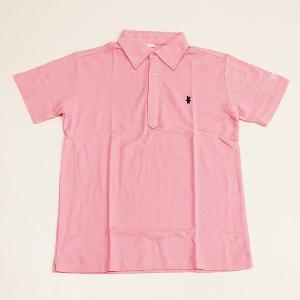 ミント刺繍入りポロシャツ ピンク|minkara