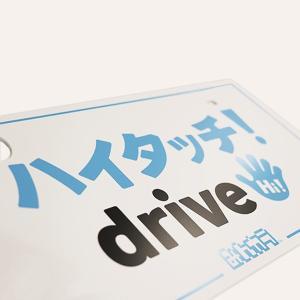 ナンバープレート隠し(I) ハイタッチ!drive ホワイト(フロント) minkara 02