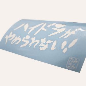 【数量限定】ハイドラ切り文字ステッカー ホワイト minkara 02