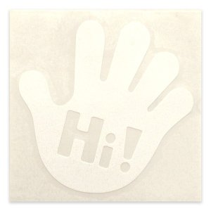 ハイタッチ!切り文字ステッカー ホワイト|minkara