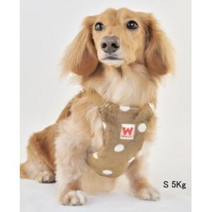 犬用 胴輪 リードなしタイプ ソフト ハーネス ドット M 犬用品  メール便で送料無料|minnaegao