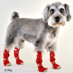 犬用 靴 雨  レインシューズ DOGブーツ 4本セット M   メール便で送料無料|minnaegao